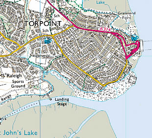 Map of Torpoint