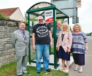 Two new bus shelters erected