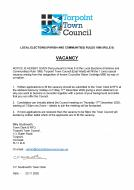 Torpoint Town Councillor -Vacancy
