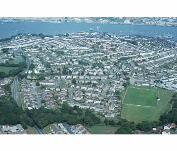 Photo Gallery Image - Aerial view of Torpoint