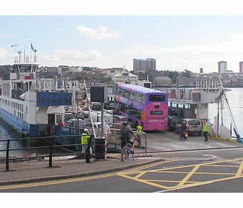 Photo Gallery Image - Boarding the ferry at Torpoint